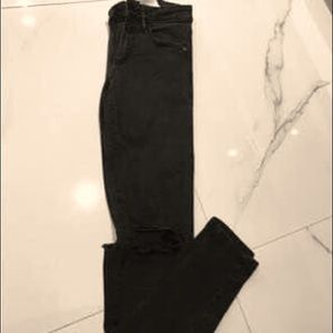 Size 0 Black Ripped Jeans